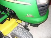 John Deere lawn mower, 20 Hp INTEK, TWIN engine,