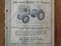 This is an original manual put out by the John Deere