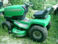 John Deere Lawn Tractor-42 inch cut-4 heights. Cost new