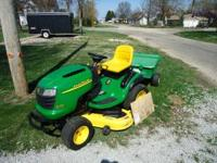 "2005 john deere l 120 lawnmower has 48"" deck 20hp"