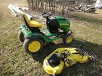 Up for sale is a John Deere L130. The garden tractor is