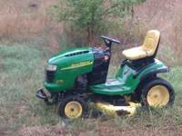 John Deere L130 riding mower. Runs great. Does need 2