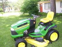 "BEST OFFER FOR MY JOHN DEERE LA 130 21 HP 48"" CUT LAWN"