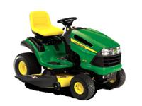 John Deere LA145 100 Series Riding mower, with pull