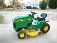 JD LX173, 15 hp, 38 inch cut, all refurbished. Looks