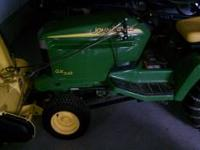 Very Nice GX345 John Deere lawn mower tractor. Has 550