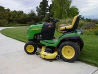 "John Deere Lawn Tractor, Model # L-120, 48"" cutting"