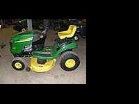 "John deere 42"" cut lawn tractor, 19 hp briggs and"