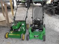 I have 2 very nice lawnmowers. One is a John Deere push