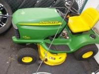 Here is a nice John Deere mower that is ready to mow