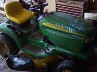 2002 John Deere LT 150 riding lawn mower. Has 38""
