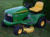 "Here is a nice tractor, 16hp, 42"" deck, hydrostatic"