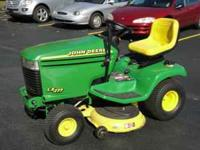 John Deere LX277 Highlights * 17-hp, V-Twin,