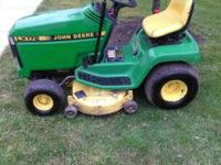 Runs great, starts easy and mows great. 14hp and 38
