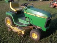 "14hp Kawasaki engine, 48"" quick-release deck,"