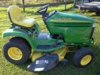 "John Deere LX280 lawn tractor with a 42"" deck. Two"