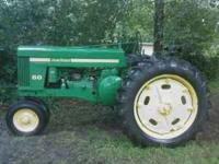 "1958??? MODEL ""60"" RUNS GOOD. call mac  Location:"