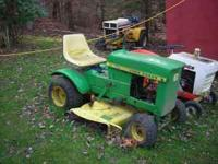 This is a 1960's vintage John Deere model 60 lawn