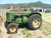 John Deere model 60 low seat with power pack engine,