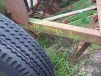 "John Deere Model ""B"" Grain Drill with grass seeder -10"