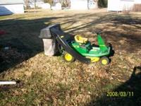 For sale my john deere riding mower with complete rear
