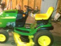 John Deere Lawn Mower L120, 22HP V twin and has a 48