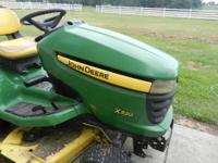 2007John Deere x320 has a 48 inch cut, 275 hours, 22