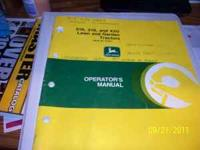 For Sale: Used John Deere Operators Manual for a 316
