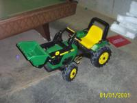 I have a used John Deere pedal tractor for sale.  It is