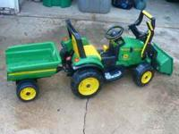 Used John Deere Ride on Battery Operated Tractor with