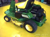 "JOHN DEERE RIDER MOWER 30"" INS W/ (NEW TRANSMISSION)"