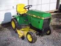 I am selling my John Deere 314 Lawn tractor with