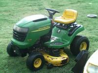 "For sale a John Deere 42"" deck runs great , i actually"