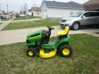 I have a john deere riding lawn mower for sale asking