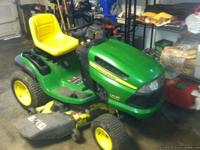 Used only 3 mowing seasons. This John Deere Riding