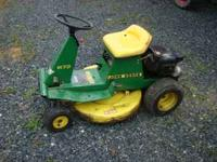 selling a john deere mower with 8hp briggs and stratton