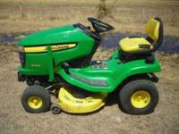 Very well kept 2006 JD X300 riding lawn mower with