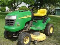"This is the 17.5 hp. l10 Automatic with 42"" mower. Good"