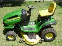 22 Horse Power, 48 inch cut John Deere LA145 Riding