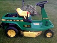 "JD RX75 9 HP 30"" cut, starts every time, runs strong"
