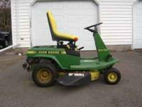 "This is a John Deere, 9hp Kawasaki, 30"" cut, electric"
