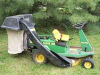 "John Deere RX 75 32"" riding mower with bagger 9 horse"
