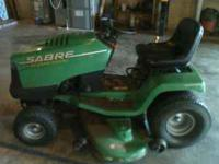 "20 hp 46"" cut V-Twin Intek Briggs Stratton. Great lawn"
