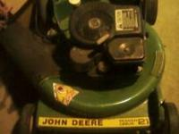 JOHN DEERE PUSH MOWER SELF PROPELLED REAR WHEEL DRIVE