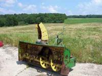JOHN DEERE 666 SNOWBLOWER ***** 3pt Hitch, 540 PTO