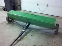6 foot drop spreader. New it sells for $1100. Call