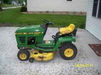 John Deere STX 38 riding mower (12 HP-5Speed) Was