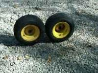 2 tires and wheels tire size 16x 6.50x8 call  Location: