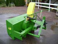 Excellent condition John Deere 3 point Snow Blower