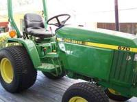 1995 John Deere Tractor 670 with only 550 hours Runs